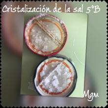 Cristalización de la sal 5ºB